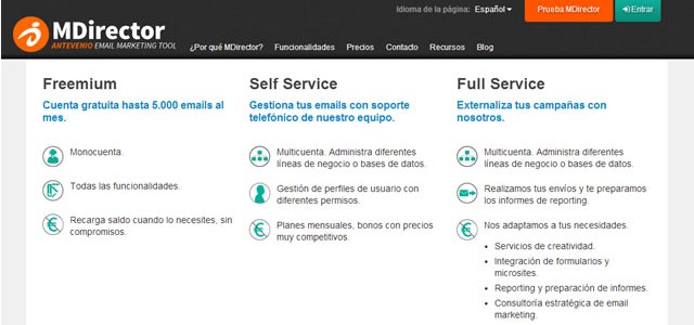 herramienta de email marketing MDirector