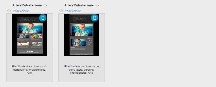 Templates gratuitos de Email Marketing sobre Arte y Entretenimiento de MDirector