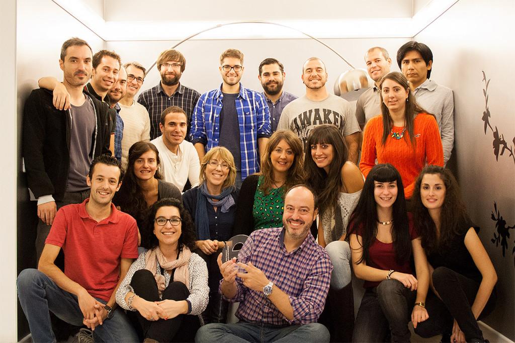 El equipo de MDirector en Madrid con nuestro galardón