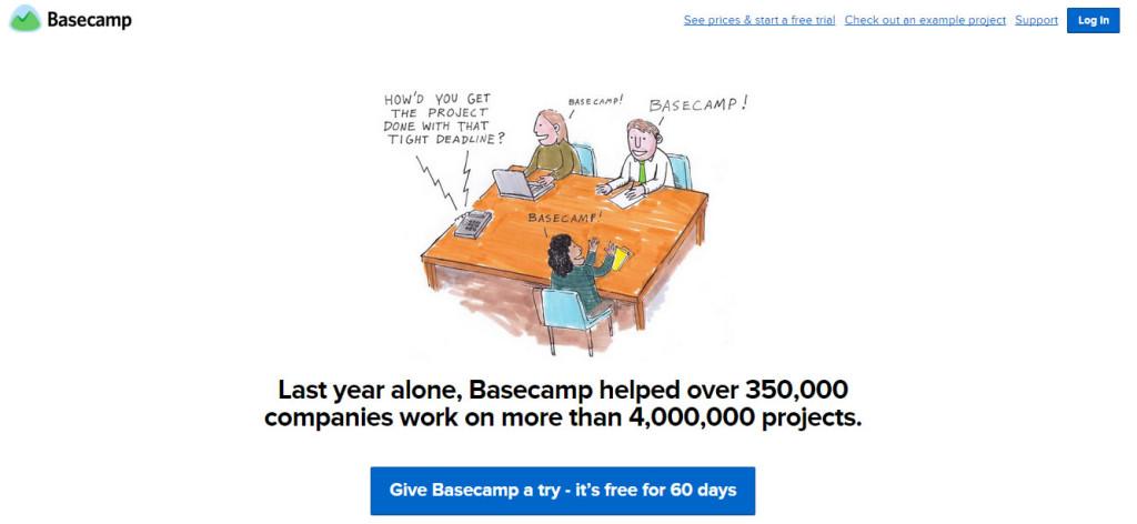 landing page de Basecamp - Come ottimizzare una Landing Page: Il modello Lift