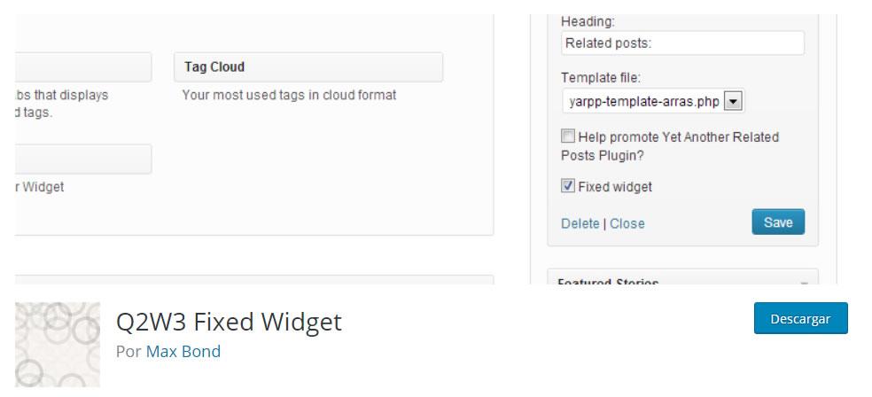 Herramientas para la captación de suscriptores: Fixed Widget