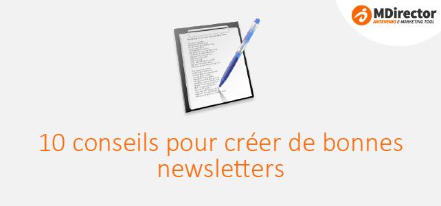 conseils pour créer de bonnes newsletters