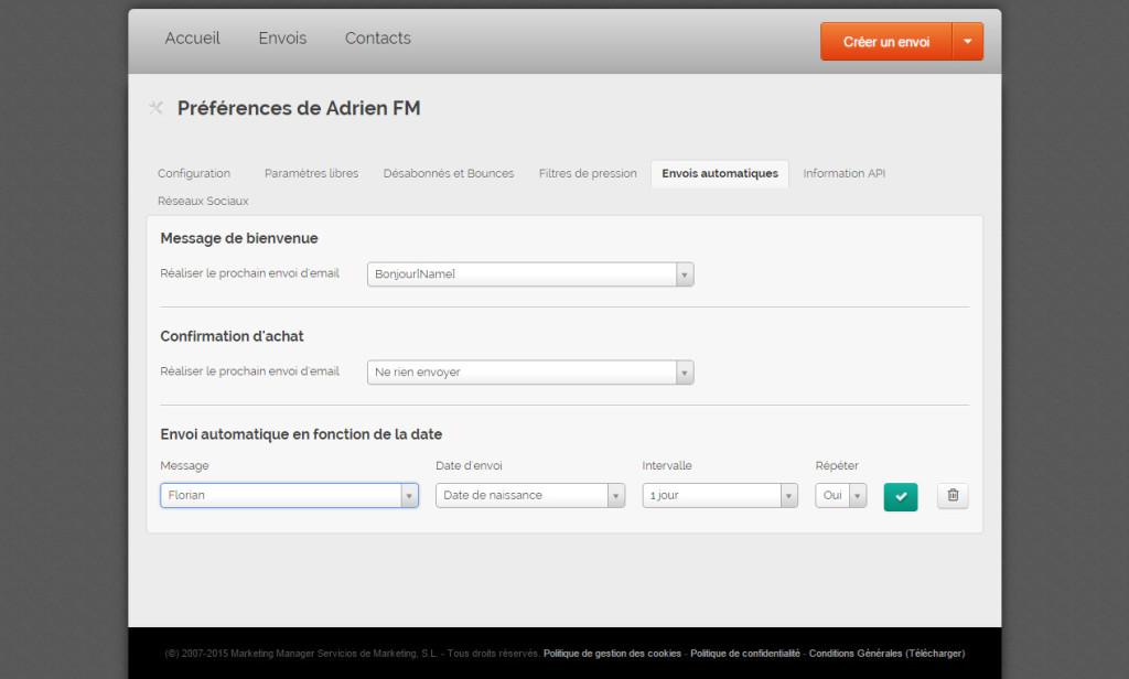Programmer des envois automatiques d'Email Marketing avec MDirector