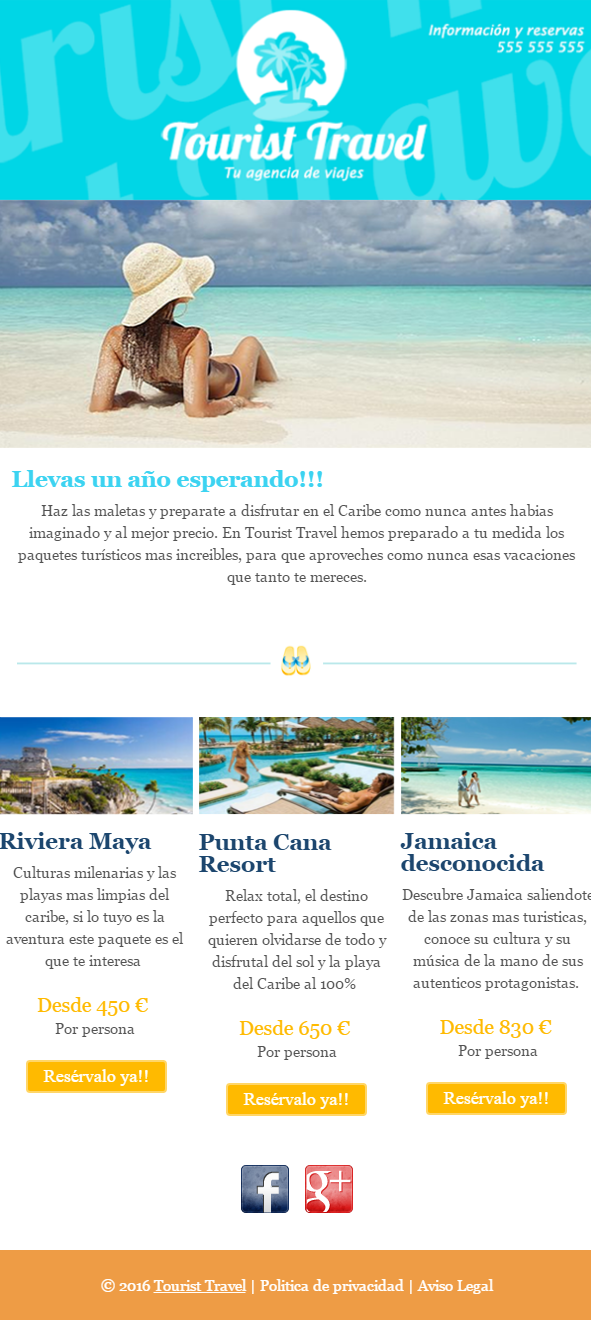 templates de newsletters: MDirector