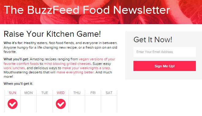informazione d'invio campagne di Buzzfeed