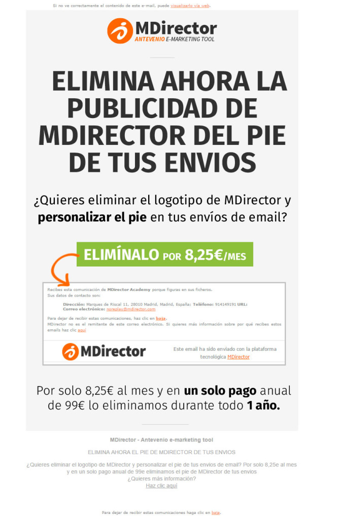 newsletters que convierten: MDirector