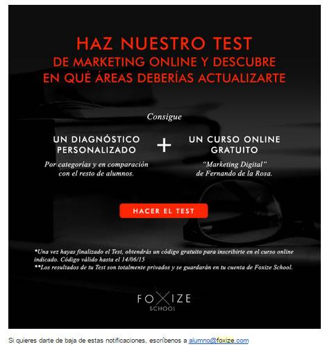 newsletters que convierten: Foxize