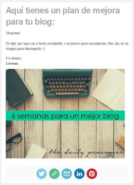 newsletters con iconos de redes sociales
