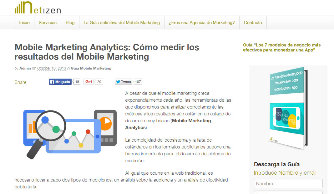 post sobre optimizar tu estrategia mobile