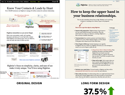tests A/B landing pages
