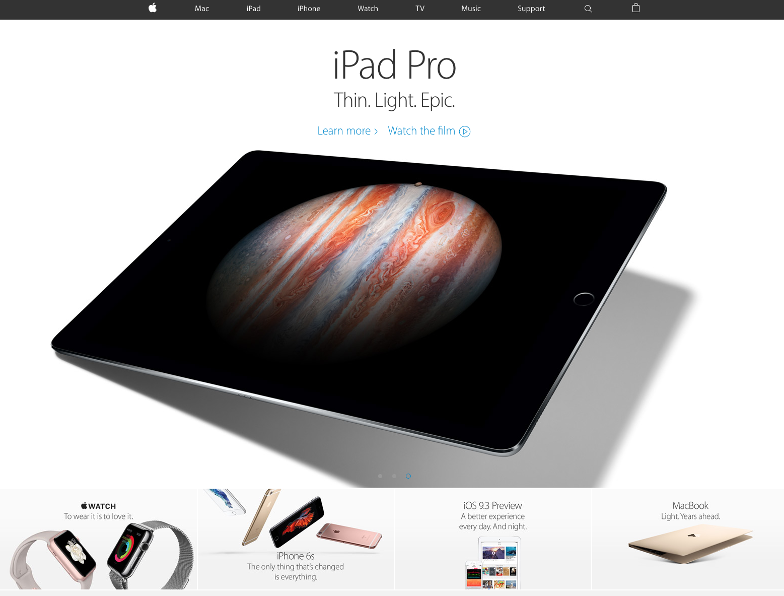landing pages de venta : Apple