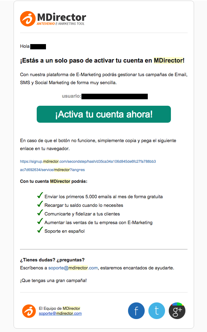 ejemplo mail formato html ideasoft