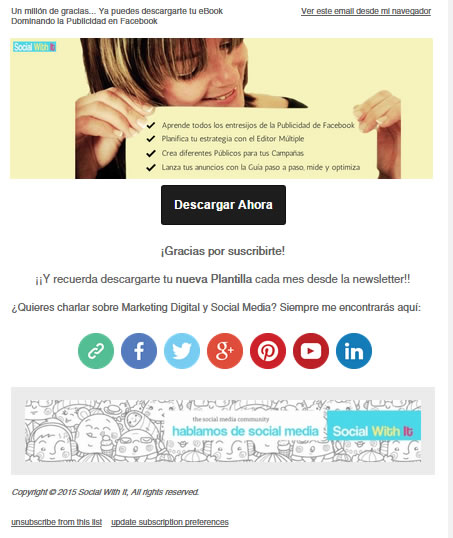 emails de bienvenida : Social with it