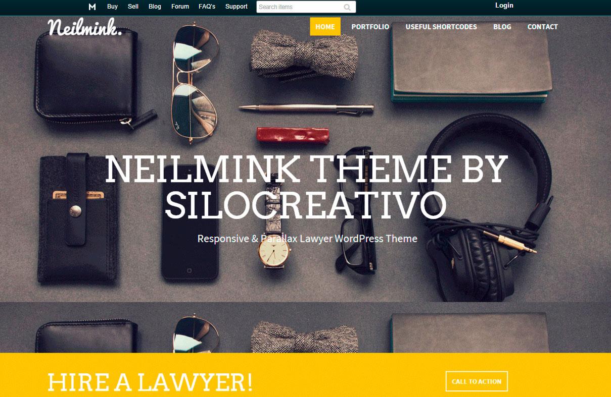 mejores plantillas de WordPress: Neilmink