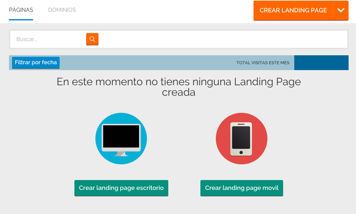 cómo crear una landing page : Paso 2