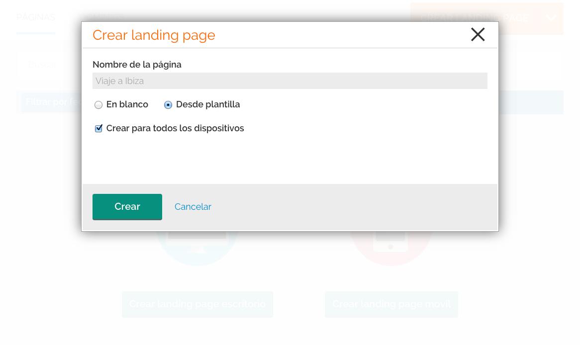 cómo crear una landing page : Paso 3