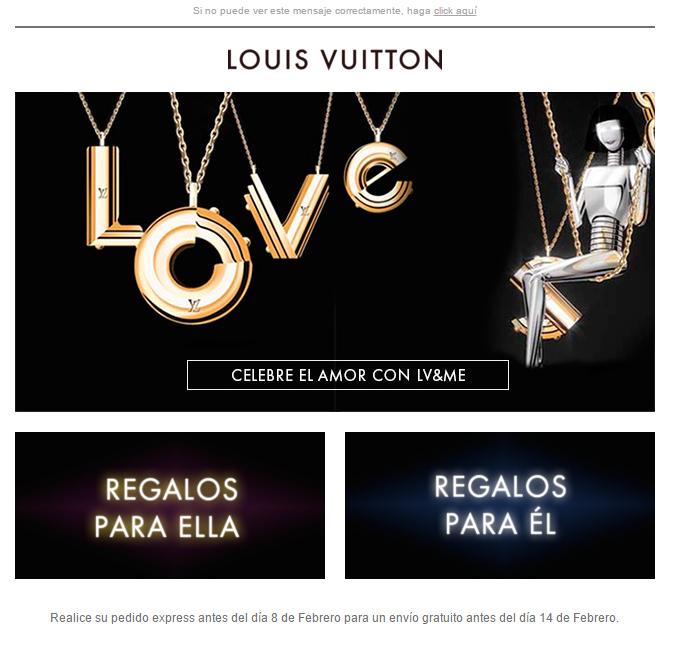 newsletters para San Valentín