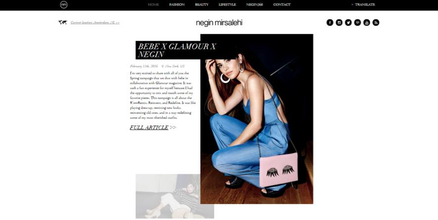 influencers de moda: Negin Mirsalehi
