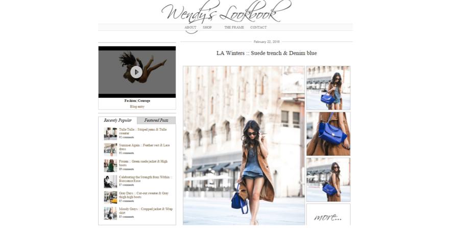 influencers de moda: Wendy's Lookbook