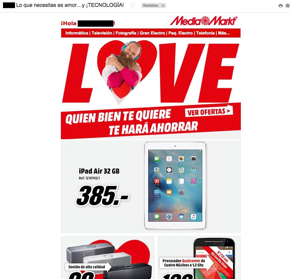 asuntos para aumentar las aperturas de emails : MediaMarkt