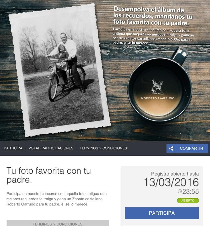 landing pages para el Día del Padre : Roberto Garrudo