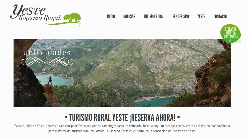 landing page Casa Rural