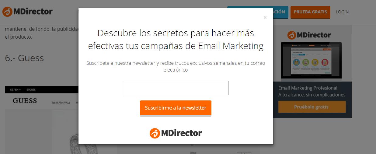 pop-up MDirector