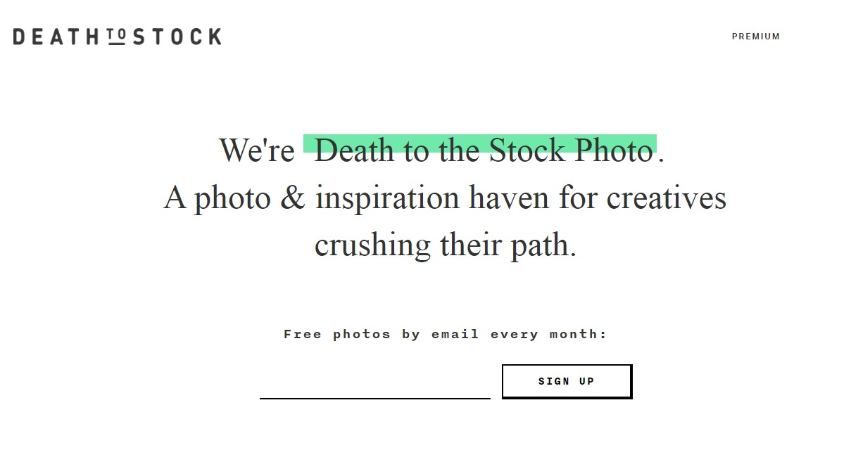 bancos de imágenes para marketing digital : Death to the stock