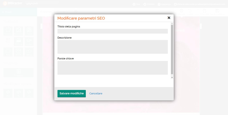 come creare una landing page: modificare parametri SEO