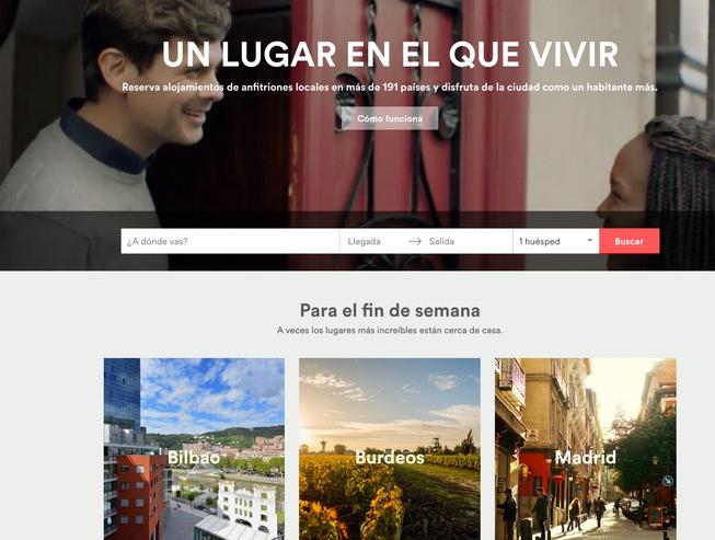 las mejores webs de viajes: Airbnb