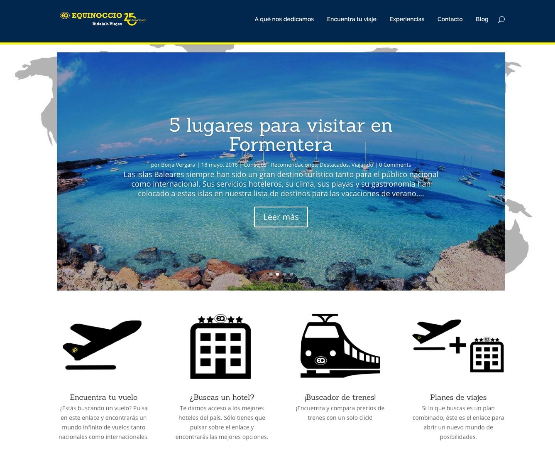 las mejores webs de viajes: equinoccio