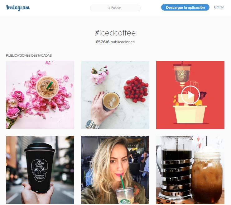 Marketing para millennials: utilización de hastags #icedcoffee