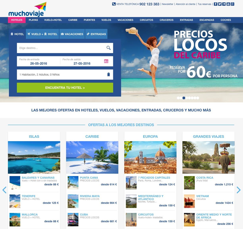 las mejores webs de viajes: muchoviaje