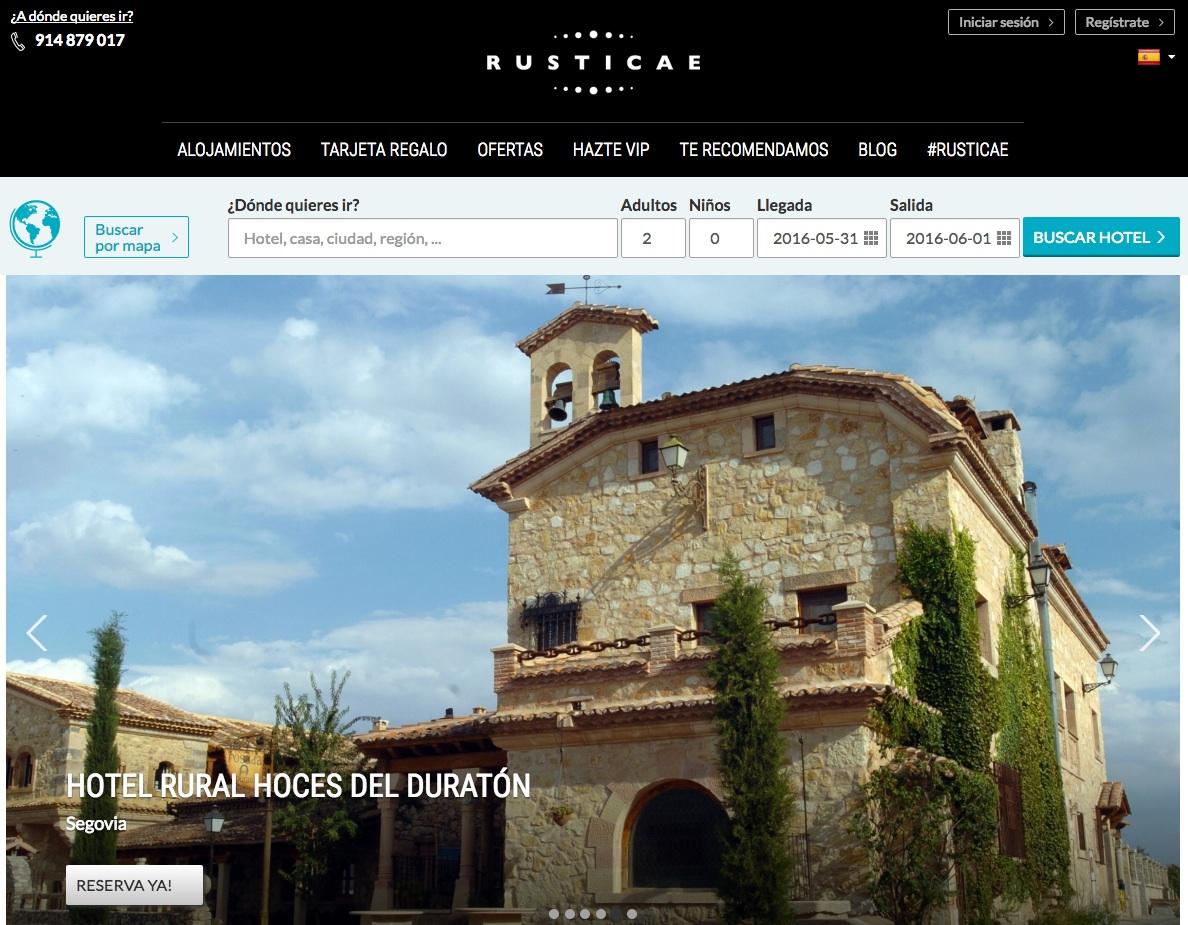 las mejores webs de viajes: rusticae