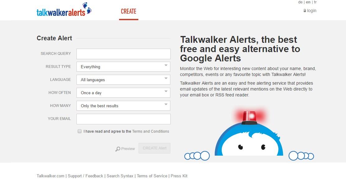 Espiar a los competidores con Talk Alerts