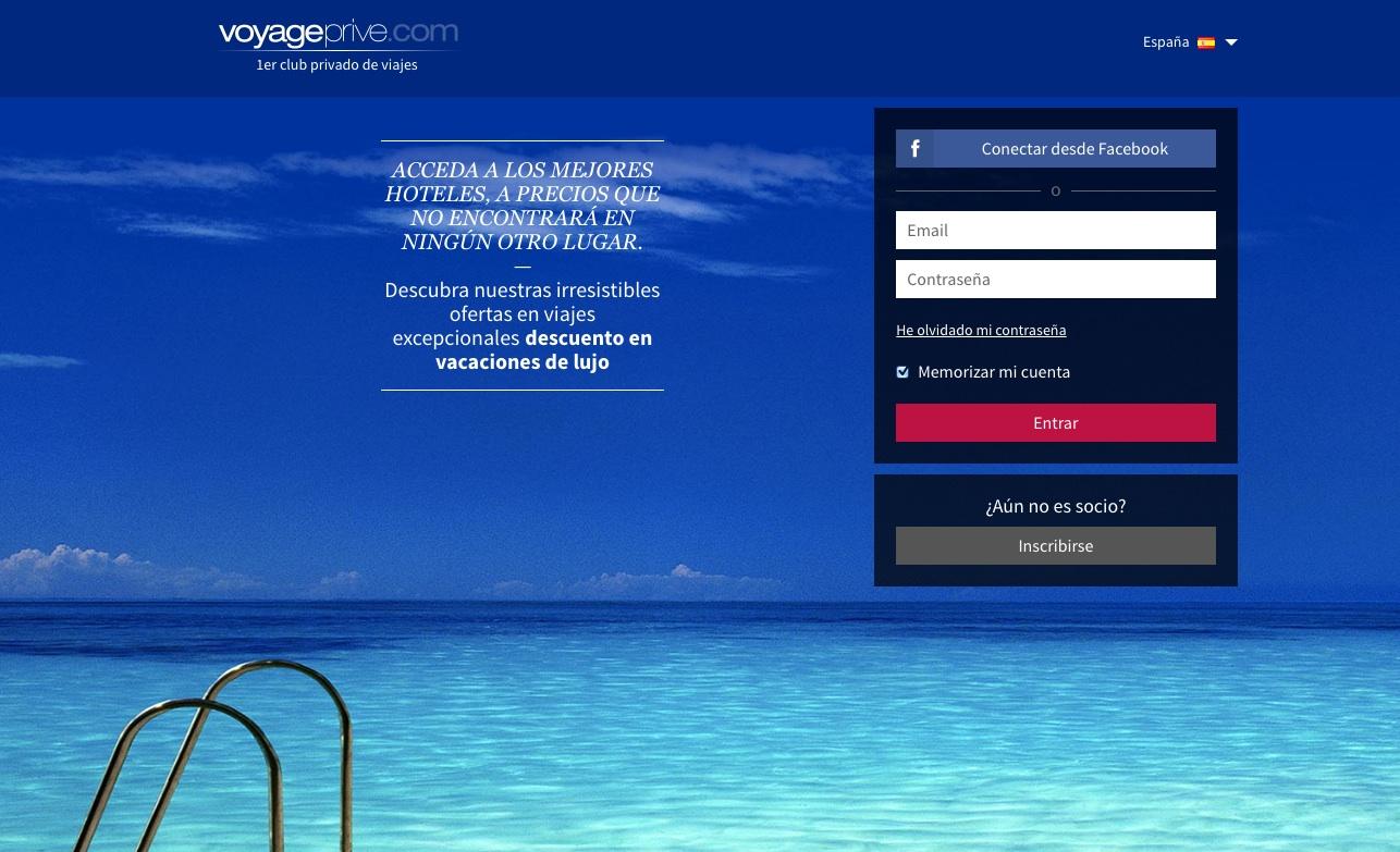 las mejores webs de viajes: voyageprive