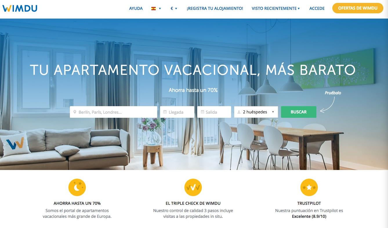 las mejores webs de viajes: wimdu