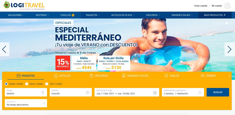 las mejores webs de viajes: logitravel
