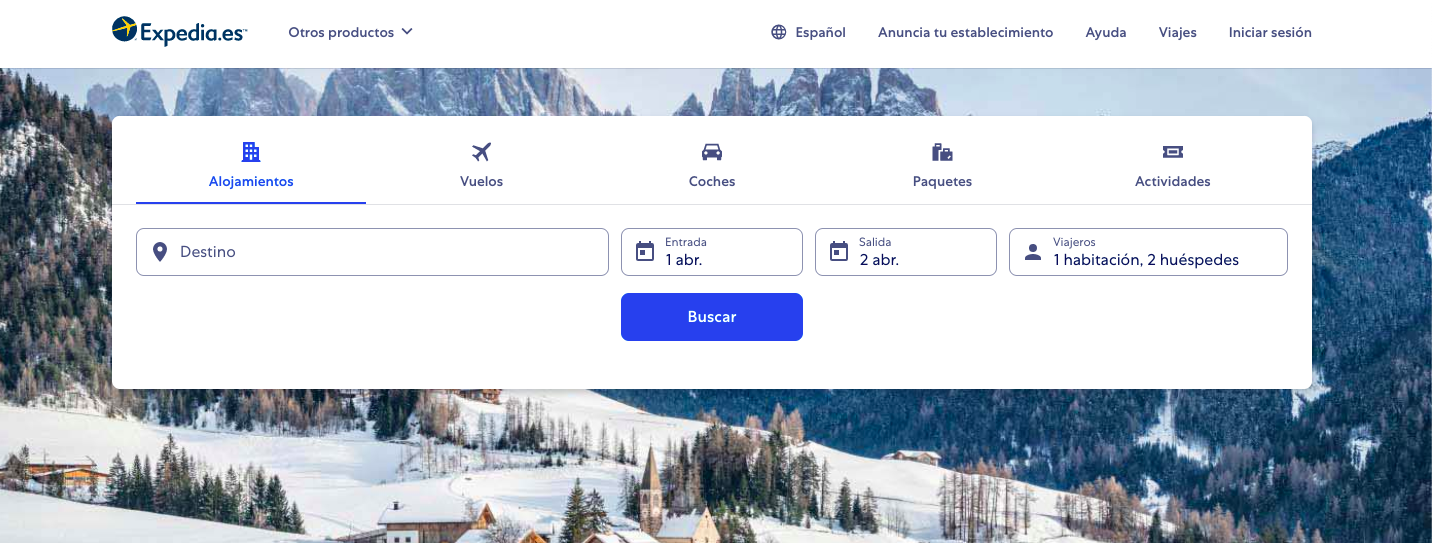 las mejores webs de viajes: expedia