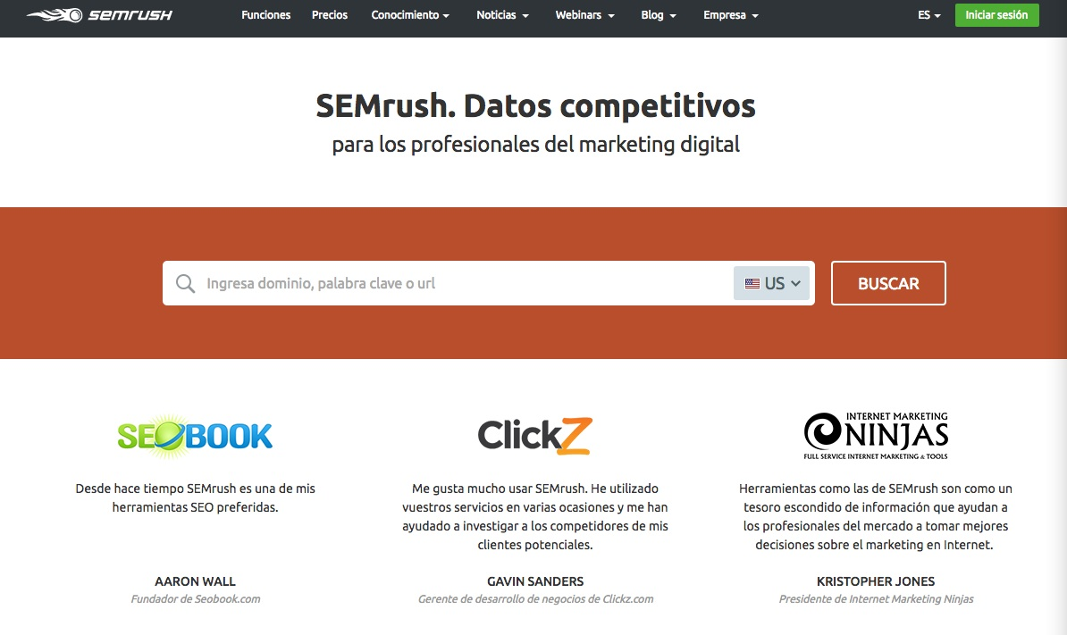 marketing digital para emprendedores: semrush