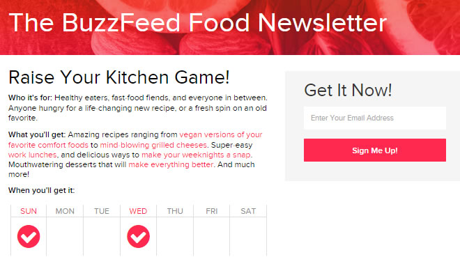 Campagnes d'Email Marketing à succès: BuzzFeed