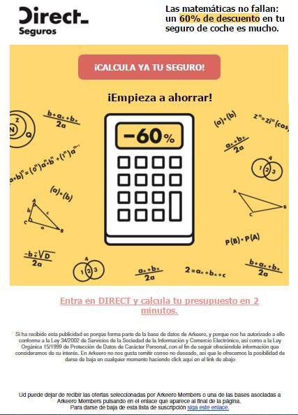 Email automatizzate per il settore assicurativo: Direct Seguros