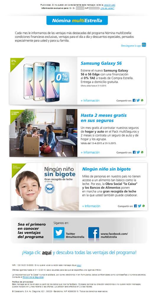 Email automatizzate per il settore assicurativo: La Caixa