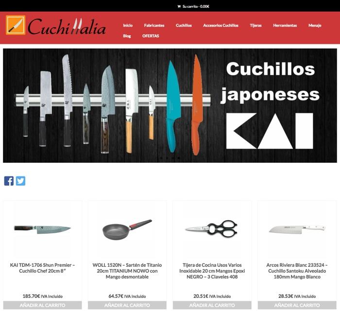 landing pages para Google Adwords: Cuchillalia