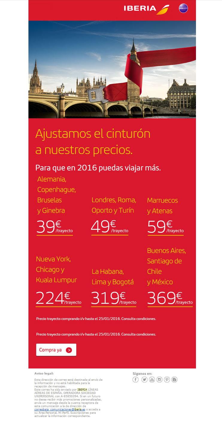 Come vendere viaggi con l'Email Marketing: Iberia