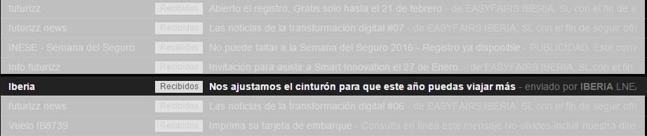 Come vendere viaggi con l'Email Marketing: Oggetto Iberia
