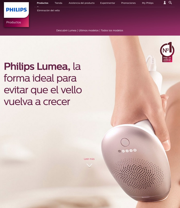 landing pages para Google Adwords: Philips