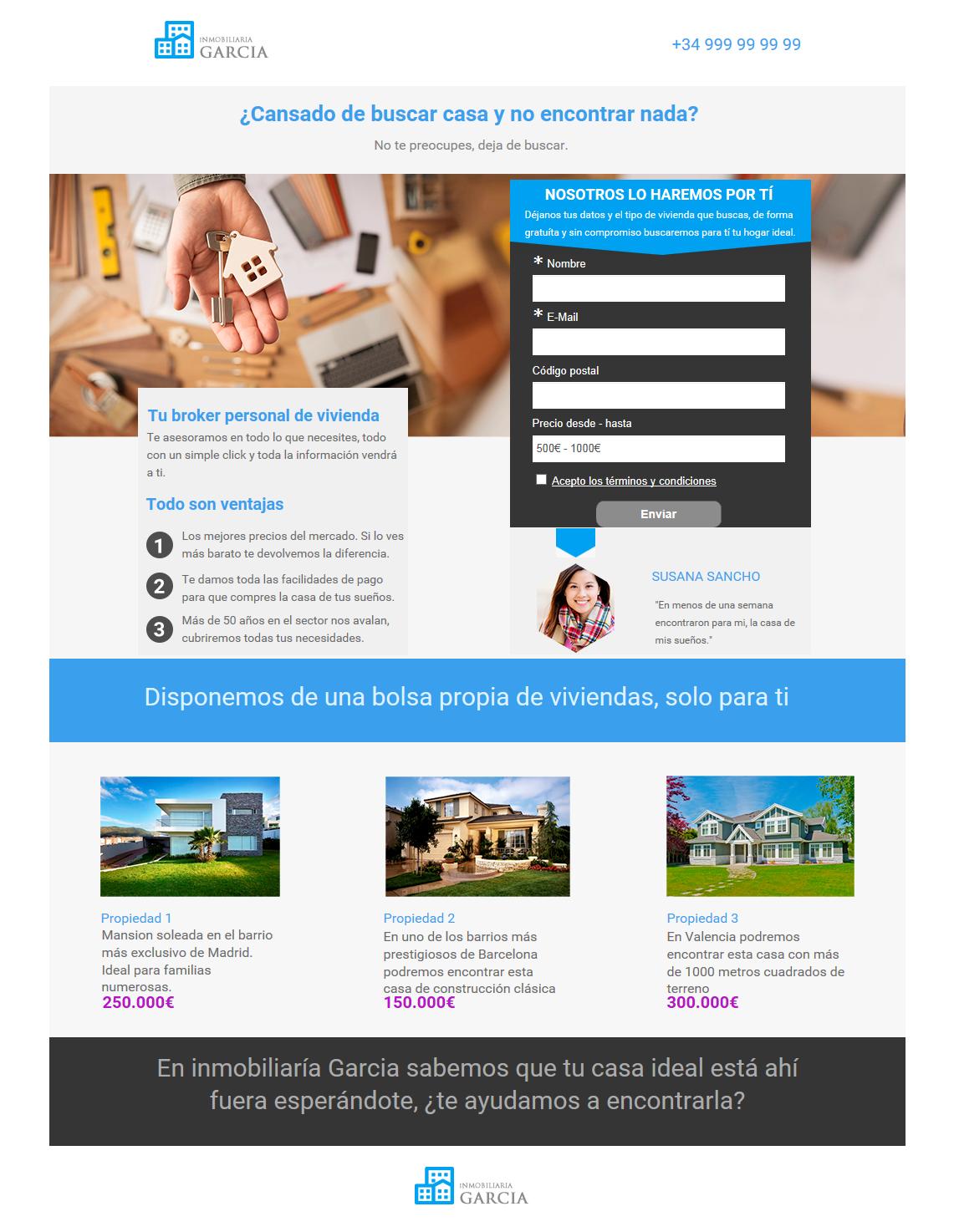 Plantillas gratis para landing pages en MDirector