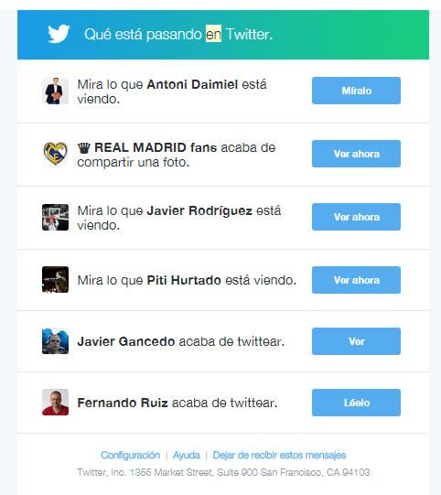 Campagnes d'Email Marketing à succès: Twitter