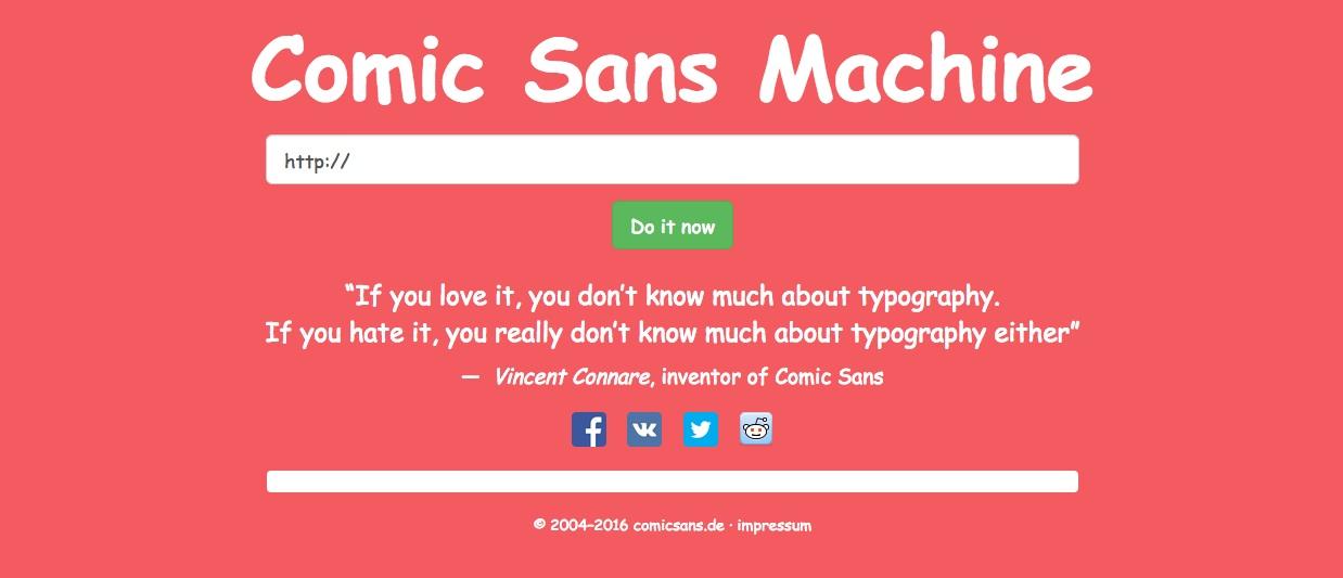 comicsansmachine